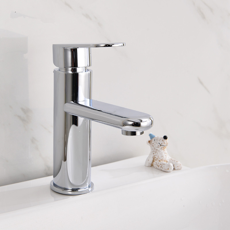 Free shipping Can be customized basin sink faucet with single lever polished chrome basin sink mixer taps