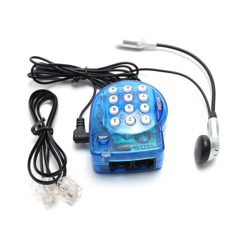 Best Deal Portable Phone Genius Mini Handsfree Telephone With Earphone Super Power Small Telephone Mini Conference Call Phone