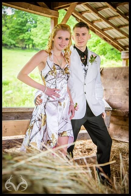 Lovely Halter High Low White Camo Prom Dresses 2019 Camouflage Party Dresses Vestido De Festa Custom Make Free Shipping