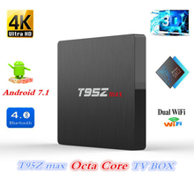 T95Z MAX Android 7.1 TV BOX Amlogic S912 DDR4 2GB 3GB 16GB 32GB Bluetooth 4K IPTV PK X96 MAX 4GB Android TV Box