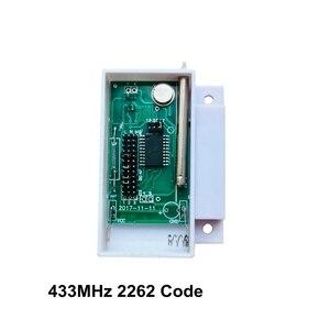 Image 2 - 433 MHz 2262 Kod Kablosuz Pencere Kapı Sensörü Manyetik Kontak Ahşap kapı alarmı Dedektörü Kablosuz GSM ev alarmı Paneli