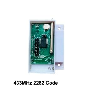 Image 2 - 433 mhz 2262 코드 무선 창 문 센서 자기 접촉 나무 문 경보 탐지기 무선 gsm 홈 알람 패널