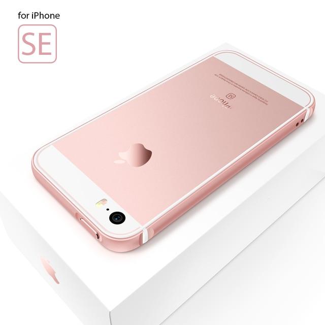 Portefeuille For Iphone Se Bumper Case Aluminum Metal Silicone