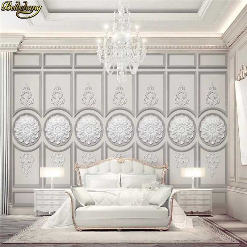 Painting Supplies & Wall Treatments 3d Wallpaper European Style Stereo Embossed Gypsum Carving Flowers Photo Wall Murals Living Room Bedroom Home Decor Wall Papers Carefully Selected Materials