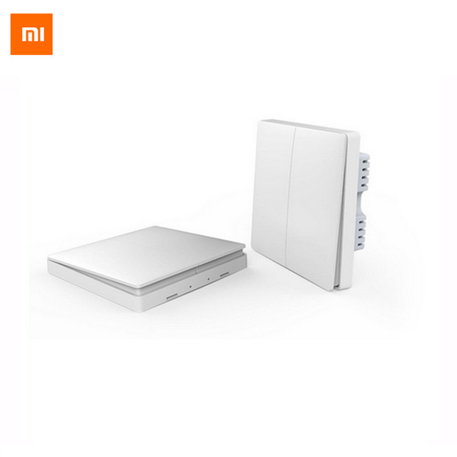 Xiaomi aqara inteligente domótica zigbee inalámbrica clave de control de la luz y el interruptor de pared interruptor de control remoto app a través de smarphone