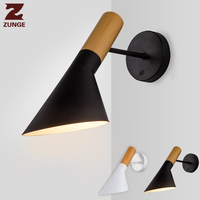 bedroom lamp wall led light nordic modern sconce wall lights for reading bedside lamps indoor home wood iron fixtures ZUNGE
