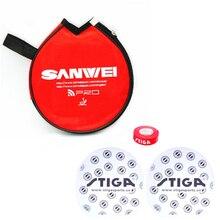 SANWEI 1x Table Tennis case+ 2x protective films +1x edge tape set ping pong bag tenis de mesa