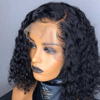 Short Human Hair Curly Wigs 13x6 Bob Lace Front Wigs With Baby Hair Full End Brazilian Glueless Lace Frontal Wigs Ever Beauty