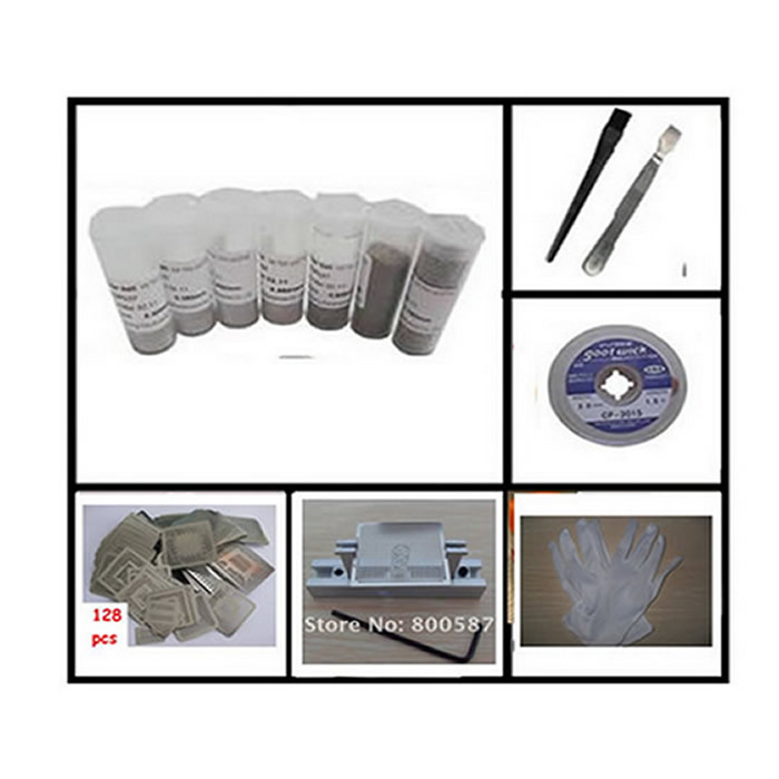 reballing kit stencils directly heating bag solder ball antistatic gloves for repair work