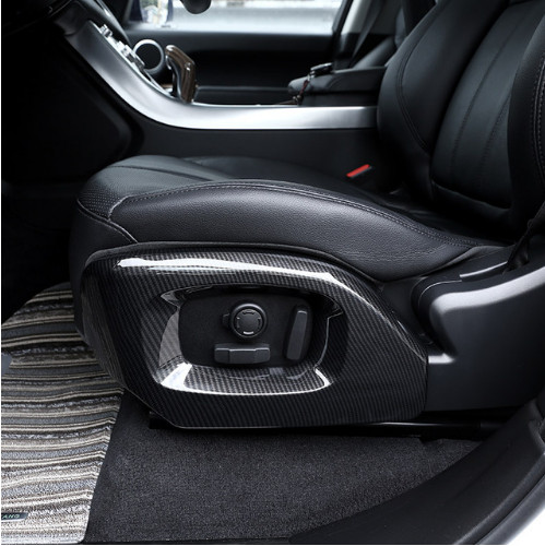 For Land rover Range Rover Vogue Autobiography For Range Rover Sport 2014-17 Car Carbon Chrome Seat Side Cover Trim Accessories 4pcs set car interior accessories side door molding trim for land rover range rover sport 2014 2015 2016 2017 styling abs chrome