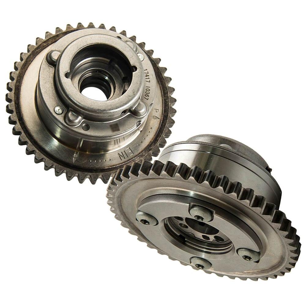 2PCS גל זיזים (פליטה + צריכת) שמאי מפעיל מצלמת Gears עבור מרצדס C250 SLK250 1.8L 2710503347 2710502947 2710501400