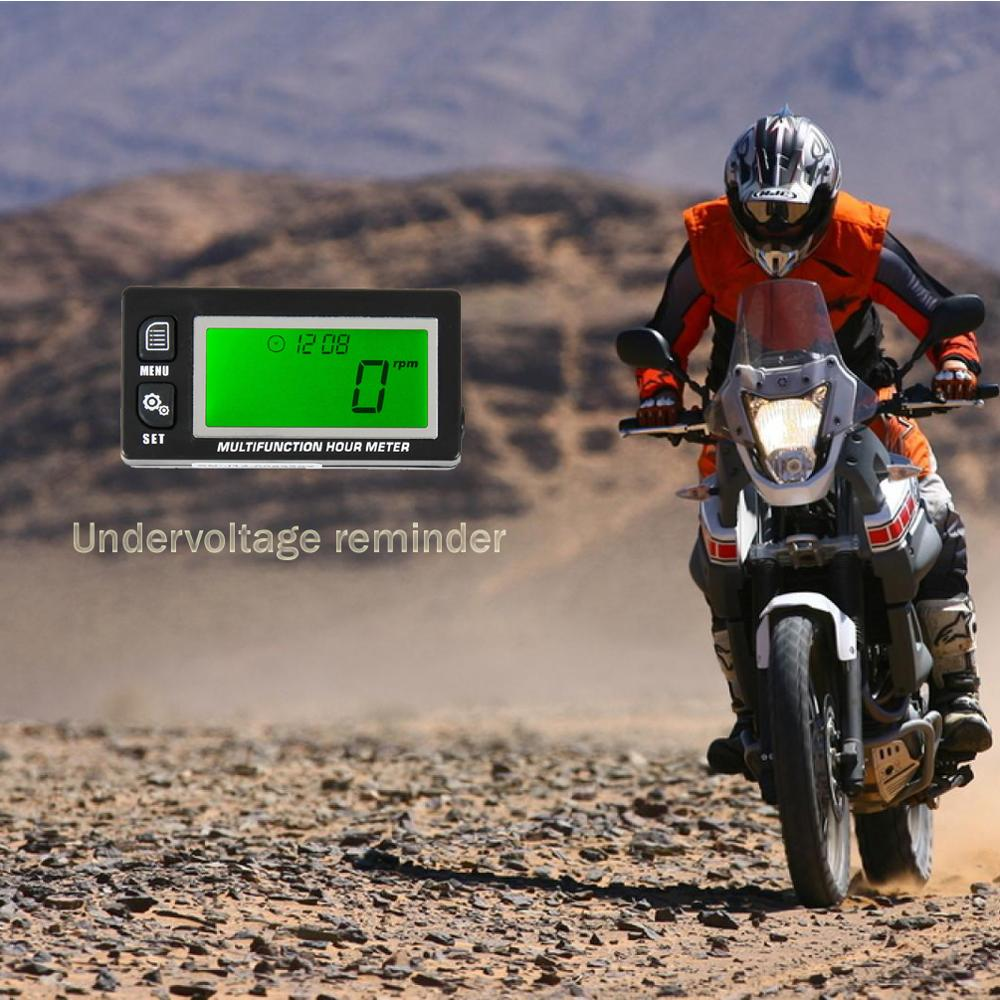 Supppliier New Functional Digital Inductive Gasoline Engine Hour Meter Tachometer Maintenance Reminder Counter Meter