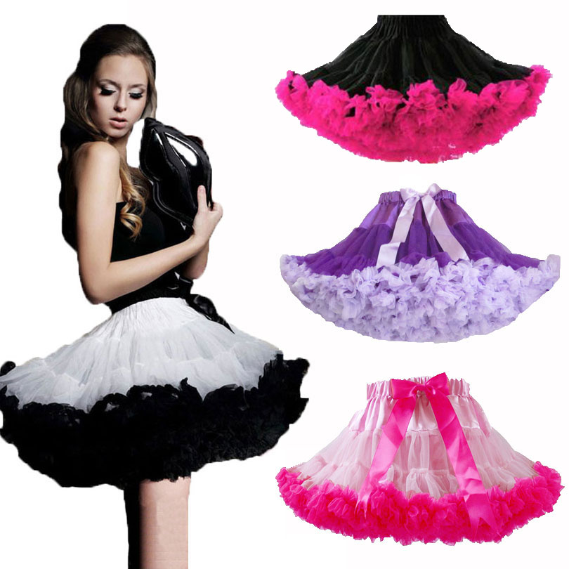 Women Teen Mini Skirt Pettiskirt S M L Ruffle Chiffon Ballet Tull Clothing Summer Women  ...