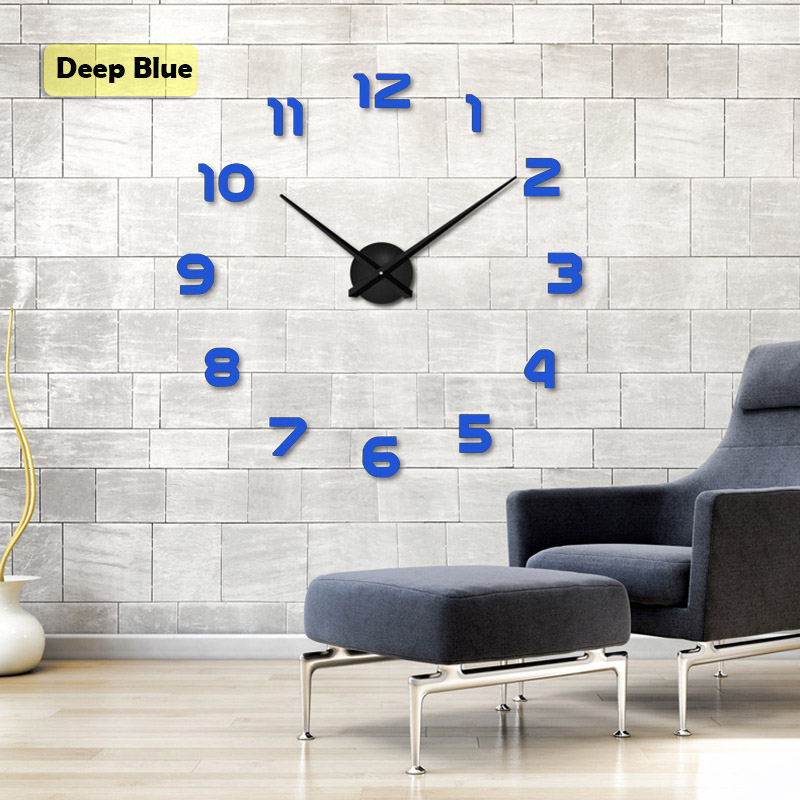 Livraison gratuite 2019 New Metall Moderne 3D DIY Horloge Murale - Décor à la maison - Photo 4