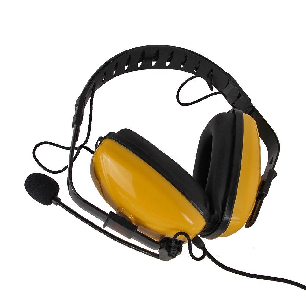 Cuffie A Cancellazione di rumore Auricolare VOX MIC K spina per Kenwood baoFeng, BF-UV5R, WouXun, puxing etc walkie talkie radio a due vie
