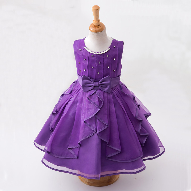 Christmas Dress For Girls Flower Girl Dresses White Purple For Party And Wedding Princess Dress Age 3 To 12 Years Kids Costume high grade princess wedding dress europe and america flower girl dress for girls white for 0 12 yesrs