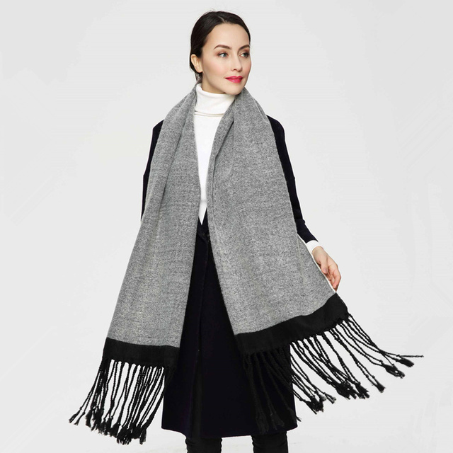 2016 New Luxury Scarf Winter Women Scarf Female Cotton Solid Scarf Best Quality Pashmina Long Tassels Women Wraps PJ035