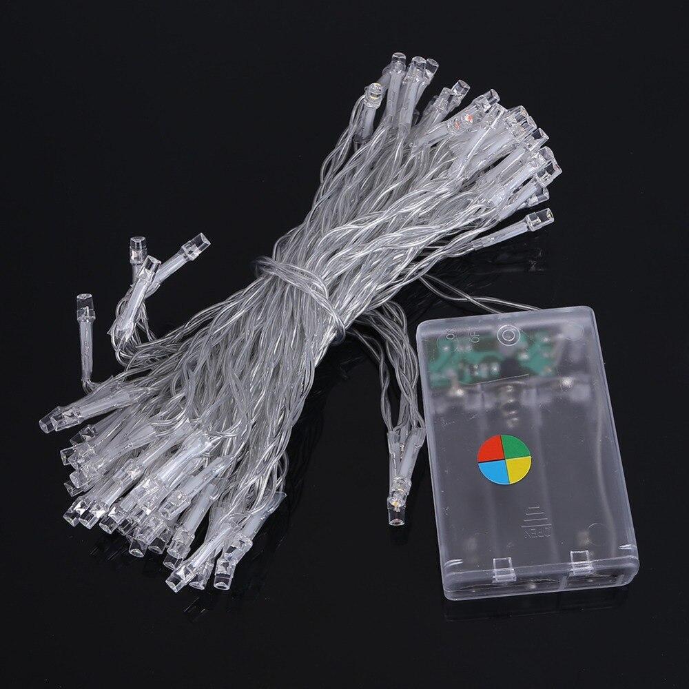 Portable Christmas Lights.10m 80leds Led String Light 3xaa Battery Operated Portable