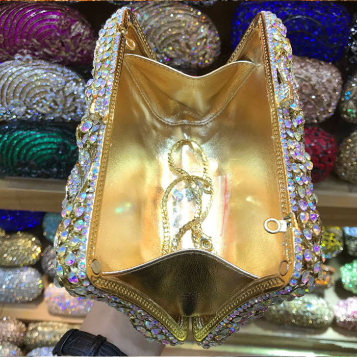 multi colour Long Gold Clutch bags Women Luxury crystal Prom handbags  Ladies Evening Bag Rhinestones pochette. sku  32906120124 67dc4f7e4a8a