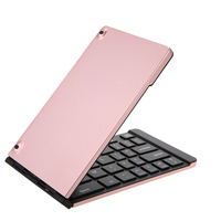 Foldable BT Ultra Slim Pocket Size Keyboard Portable Mini BT Wireless Keyboard Built in Rechargeable Battery Computer peripheral