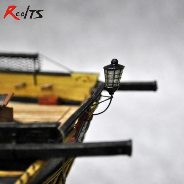 RealTS Classic Wooden Sailing Boat Assemble Kit Spare Parts 12mm 3pcs/set Light Shell Set For Wooden Boat Kit