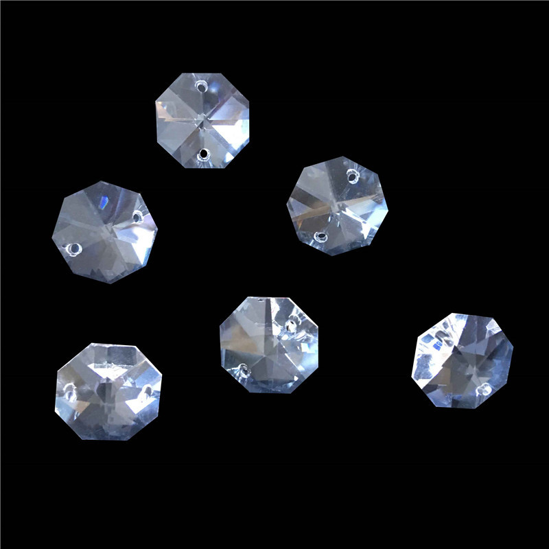 Hot Sale Free Shipping With 700pcs Lot 20mm Crystal Octagon Beads With 2 Holes Transparent Color
