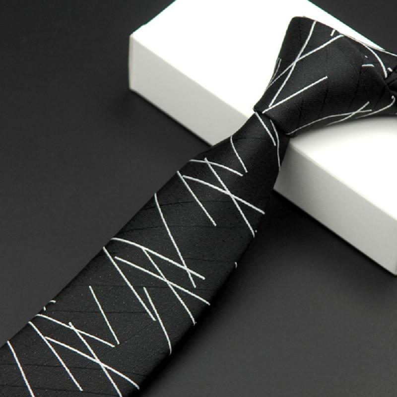 Սև նեղ փողկապ ամուր ծաղկային - Հագուստի պարագաներ - Լուսանկար 3