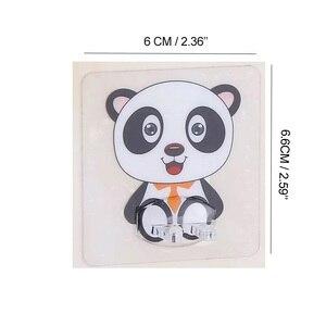 Image 5 - Soporte para cepillo de dientes transparente, soporte de viaje para afeitadora, organizador de cepillo de dientes infantil, estante de almacenamiento, accesorios de baño, Panda, 4 Uds.