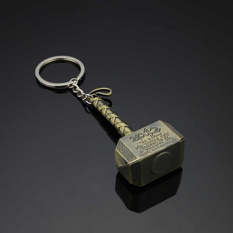 Бесконечная война Мстители 3 Marvel Thor's Hammer Mjolnir брелок игрушки серебристые металлические Тор Odinson Hammer брелок для ключей детские игрушки