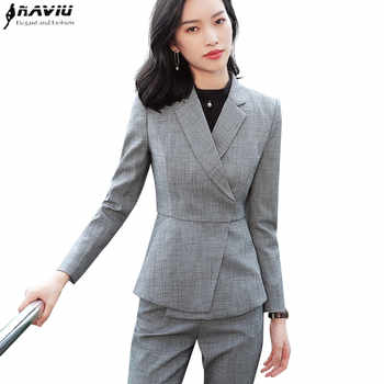 New fashion white skirt suits set women Business slim long sleeve blazer with skirt office ladies plus size Interview work wear - DISCOUNT ITEM  20% OFF Women\'s Clothing