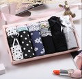 new arrivals 6pc/lot gift box set Cotton fabric young girl 100panties low-waist mid waist briefs gift box set