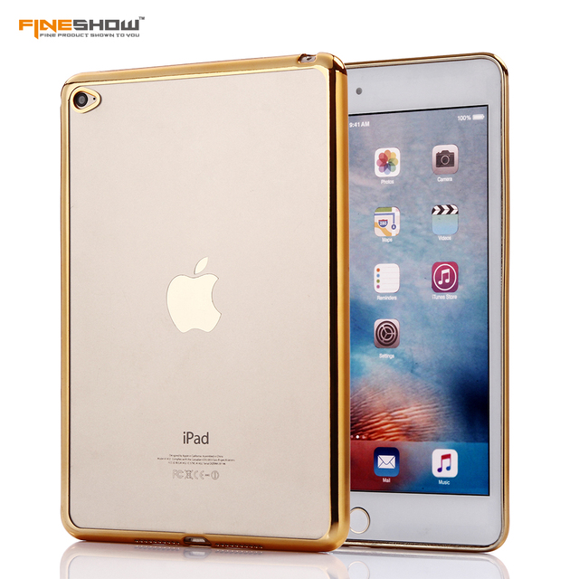 For iPad MINI4 Tablet Case Luxury Rubber Crystal Electroplated Frame for iPad MINI4