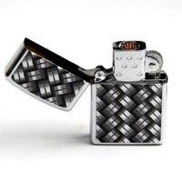 Coupe-vent USB Rechargeable Électronique Matel Allume-cigare Noir et blanc carrés
