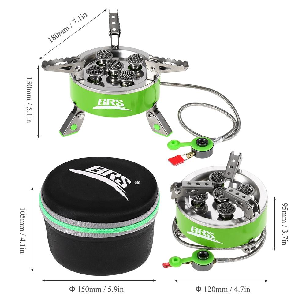 BRS 75 высокой мощности 7000 Вт газовая плита ультра легкий складной для пикника кемпинга пешего туризма открытый кухонная посуда портативный - 4
