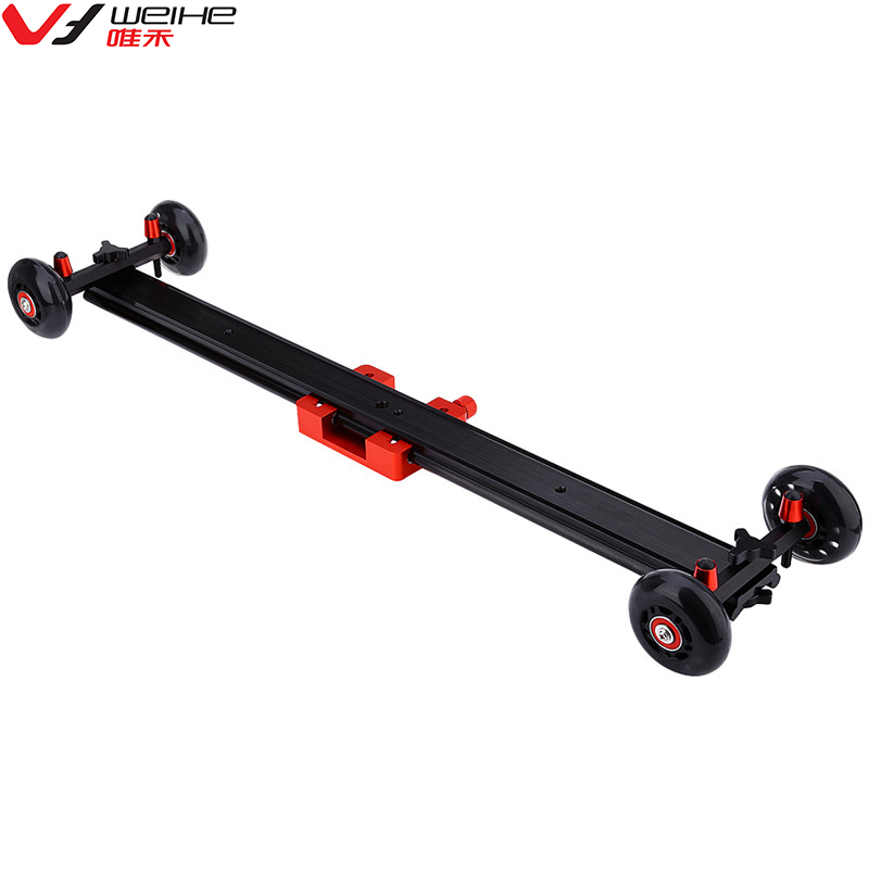 цена WH60-W 24 inch DSLR Camcorder Camera Track Dolly Slider Video Stabilization System For DSLR DV Camera CamCorder