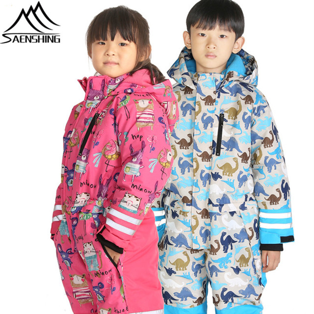 29e185686c SAENSHING One Piece Ski Suit Kids New Winter Snow Snowboard Suits Set Waterproof  Breathable Children Snowboarding Snow Suits