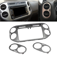 JEAZEA 3PCS Central Dashboard Navigation Frame Side Air Vent Outlet Cover Car Accessories For VW Tiguan