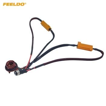 FEELDO 10Pcs BAY15D 1157 LED Warning Decoder Load Resistor Socket Error #FD5345