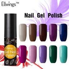 Ellwings 6ml Semi Permanent Gel Nail Polish 29 Colors DIY Nail Art Gel Lacquer Glitter Soak Off Long Lasting Gel Varnish