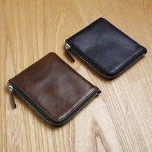 LAN hommes en cuir de portefeuille à la main porte-monnaie porteurs marque casual poche à fermeture éclair portefeuille