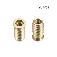 Uxcell 20pcs/lot 4 size Choose M8 M10 Furniture Threaded Insert Nut 20mm 25mm 30mm Length Hardwere Fasteners Parts