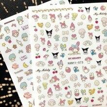 Новейшие 3d наклейки для ногтей SOLONAIL hanyi-73 маленький кролик Розовые наклейки для ногтей инструменты для украшения ногтей наклейки для ногтей