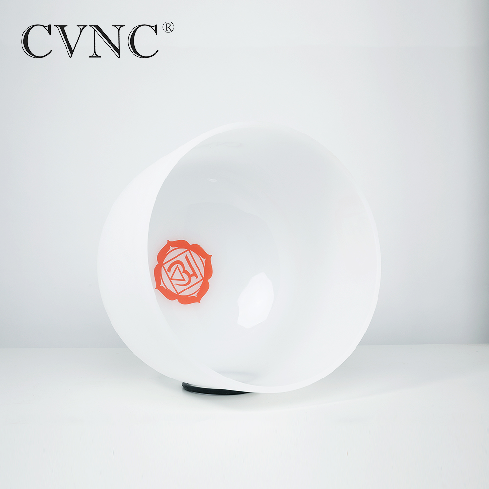 CVNC  8 Note C  Chakra Design Frosted Quartz Crystal Singing Bowl  Free Shipping Cost CVNC  8 Note C  Chakra Design Frosted Quartz Crystal Singing Bowl  Free Shipping Cost