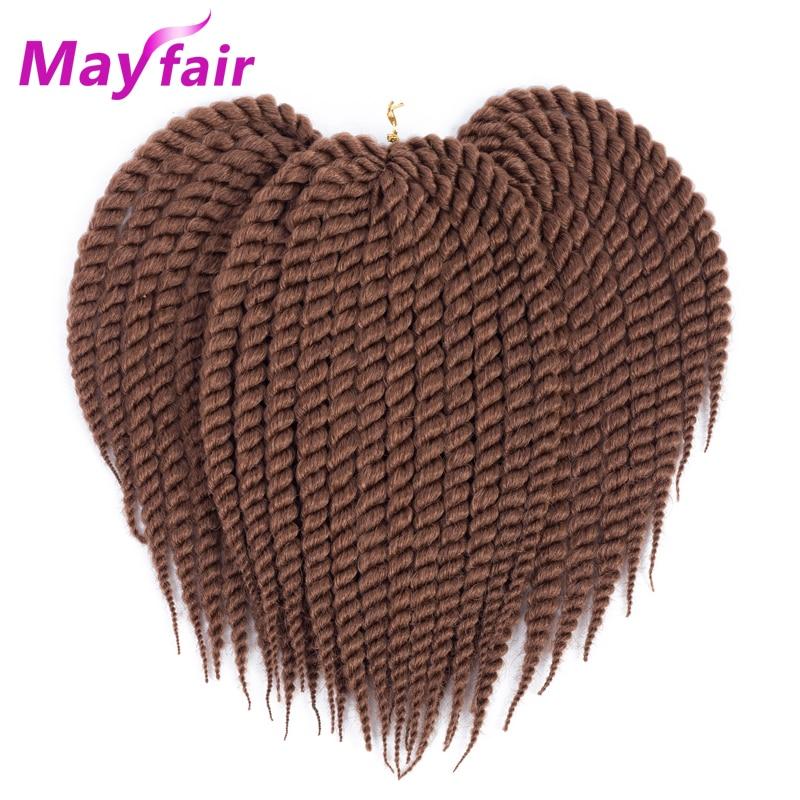 """MAYFAIR 3pcs/Lot 18"""" 12strands/Pack Havana Mambo Twist Hair Havana Crochet Twist Braids 100g/Pack Crochet Braids Hair Extensions"""