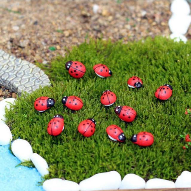 Artesanato Jardim Da Estrela ~ 50 Pçs lote Home Deco Artesanato Em Madeira Enfeites de Jardim de Fadas de Madeira Besouro