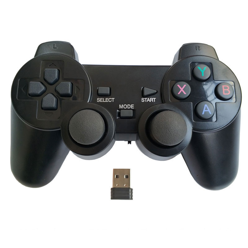 Professional computer gampead PC wireless game controller 2 4Ghz joystick with PC360 mode double vibration for Win7 Win8 Win10