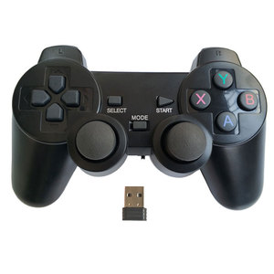 Image 1 - Professional computer gampead PC wireless game controller 2.4Ghz joystick with PC360 mode double vibration for Win7 Win8 Win10