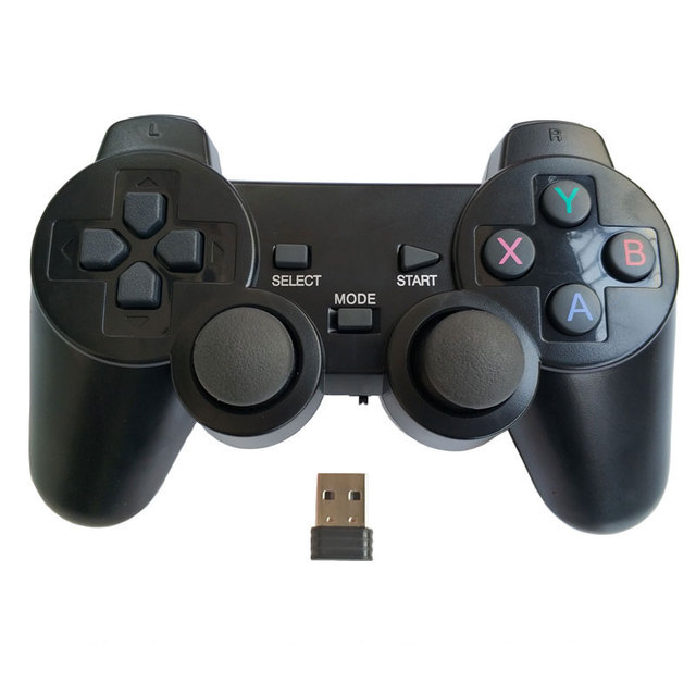 Professional computer gampead PC wireless game controller 2.4Ghz joystick with PC360 mode double vibration for Win7 Win8 Win10