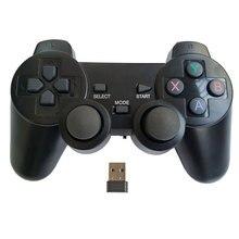 Profesyonel bilgisayar gampead PC kablosuz oyun denetleyicisi 2.4Ghz joystick ile PC360 modu için çift titreşim Win7 Win8 Win10