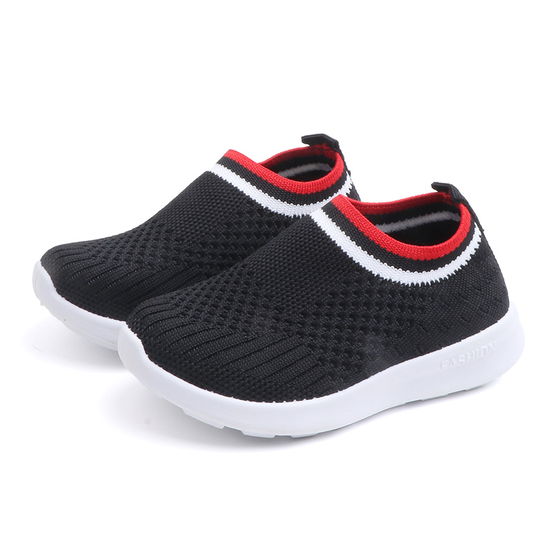 NEW Children Shoes Boys & Girls Sneakers Breathable Sports Elasticity Knitting Shoes For Toddler & Little Kids Eur SIZE 22-33